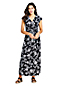 Women's Cotton-modal Jersey Twist Wrap Maxi Dress, Print