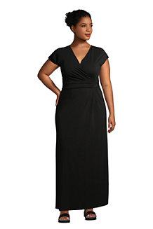 Women's Cotton-modal Jersey Twist Wrap Maxi Dress