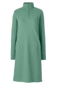 Women's Serious Sweats Long Sleeve Quarter Zip Sweatshirt Dress