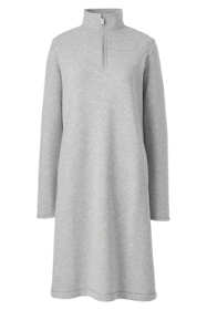 Women's Plus Size Serious Sweats Long Sleeve Quarter Zip Sweatshirt Dress