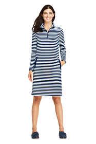 Women's Serious Sweats Long Sleeve Quarter Zip Sweatshirt Dress