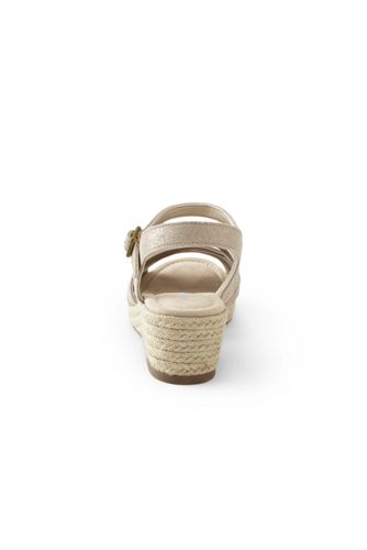Women's Wide Criss Cross Suede Espadrille Wedge Sandals