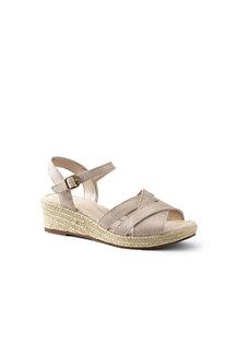 Women's Suede Espadrille Wedge Sandals
