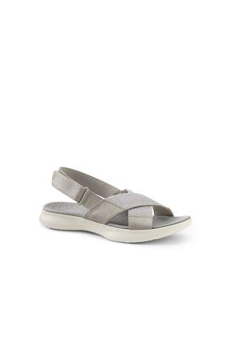 Women's Lightweight Comfort Elastic Cross Strap Sandals