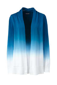 Women's Plus Size Cotton Open Long Cardigan Sweater - Ombre