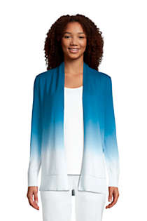 Women's Tall Cotton Open Long Cardigan Sweater - Ombre, Front