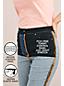 Jean Amincissant Droit Taille Haute Teinté EcoVero, Femme Grande Taille