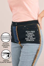 Women's Plus Size High Rise Straight Fit Shaping Colorful Jeans
