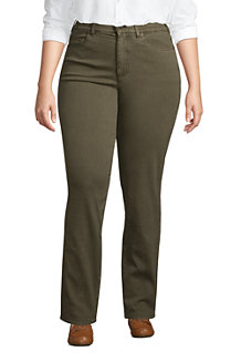 Women's EcoVero Slimming Jeans, High Waisted Straight Leg, Colours