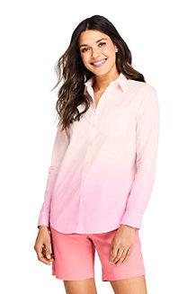 Women's Tie-Dye Cotton Boyfriend Shirt