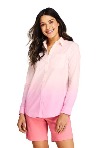 Women's Tie-Dye Cotton Boyfriend Shirt