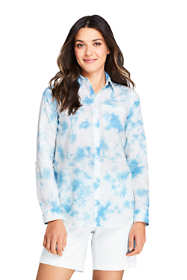 Women's Tie Dye Boyfriend Fit Cotton Tunic Top