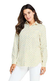 Women's Petite Peter Pan collar Boyfriend Fit Tunic Top