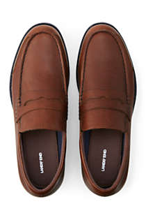 Men's Wide Comfort Casual Leather Penny Loafers, Unknown