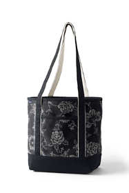 Print Medium Open Top Long Handle Canvas Tote Bag