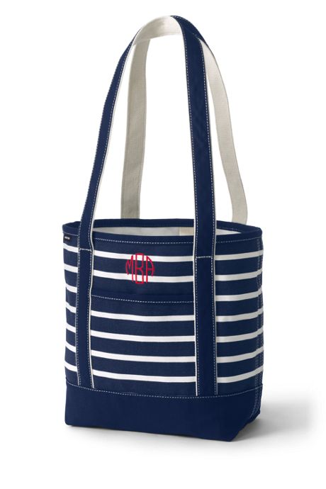 Print Open Top Long Handle Canvas Tote Bag