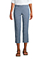 Pantacourt Chino en Chambray Stretch, Femme Stature Petite