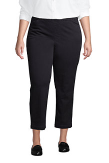 Women's Pull-on Cropped Chino Trousers