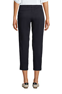 Women's Mid Rise Pull On Chino Crop Pants, Back
