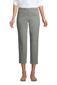 Women's Tall Mid Rise Pull On Chino Crop Pants