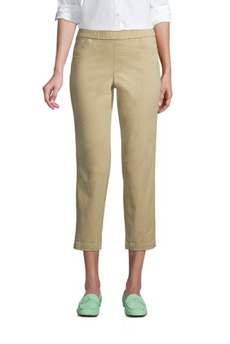 Pantacourt Chino Taille Elastiquée, Femme Grande Taille