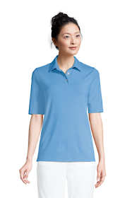Women's Moisture Wicking UPF Sun Elbow Sleeve Polo Shirt Stripe