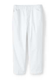 Women's Mid Rise Curvy Pull On Chino Crop Pants