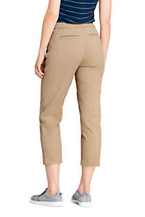 Women's Mid Rise Curvy Pull On Chino Crop Pants, Back