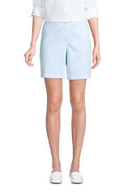 "Women's Mid Rise 7"" Curvy Chino Seersucker Shorts"