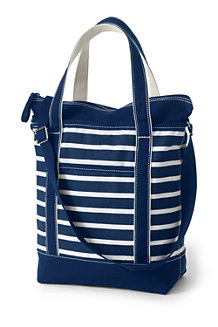 Lightweight Print Canvas Crossbody Tote