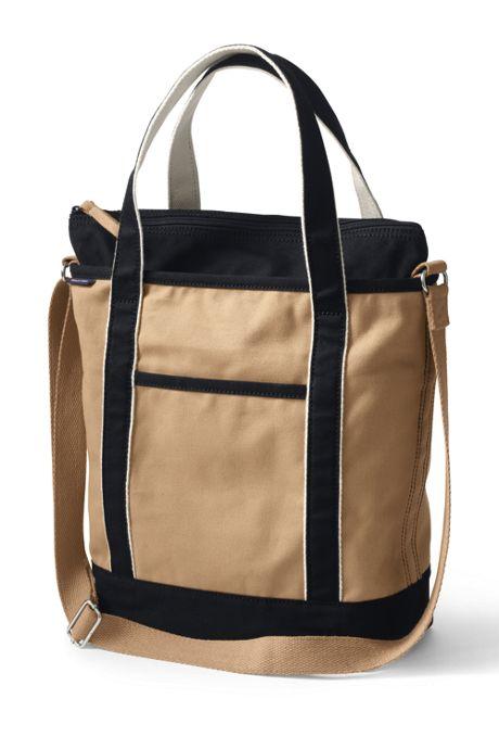 Lightweight Canvas Crossbody Tote Bag