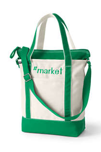 Lightweight Canvas Crossbody Tote Bag, Front