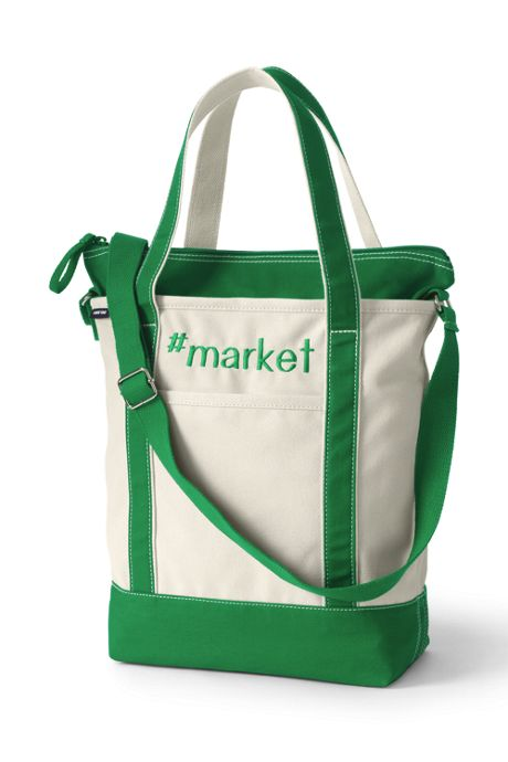 Lightweight Canvas Crossbody Tote Bag