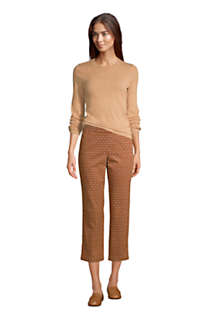 Women's Mid Rise Pull On Chino Crop Pants, alternative image