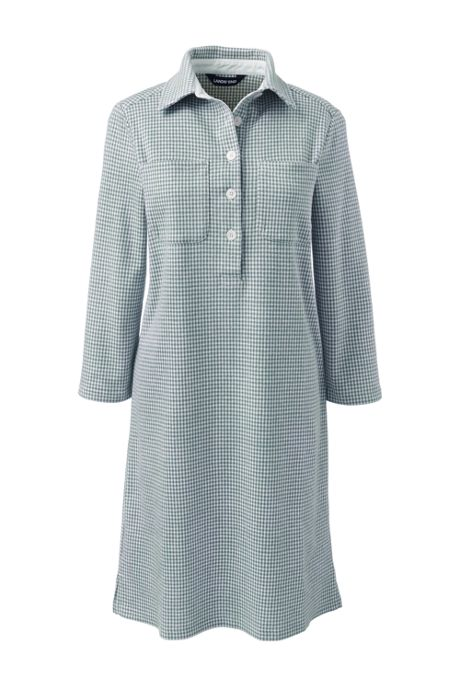 Women's Sport Knit 3/4 Sleeve Knee Length Shirt Dress