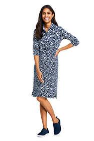 Women's Sport Knit 3/4 Sleeve Knee Length Shirt Dress