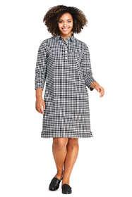 Women's Plus Size Sport Knit 3/4 Sleeve Knee Length Shirt Dress