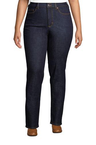 Shaping Jeans, Straight Fit High Waist für Damen in Plus-Größe