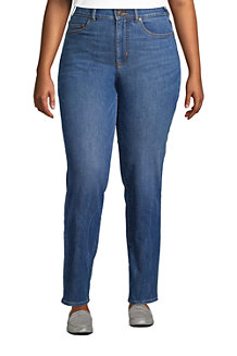 Shaping Jeans, Straight Fit High Waist für Damen in Plus-Größe