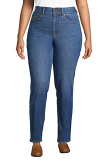 Shaping Jeans, Straight Fit High Waist