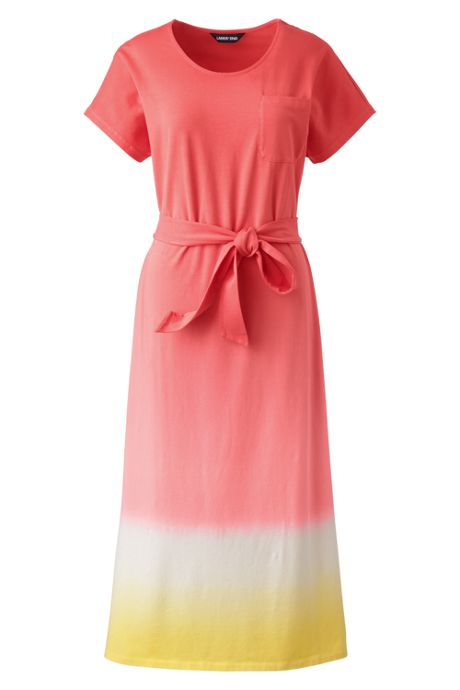 Women's Plus Size Cap Sleeve Midi T-shirt Dress