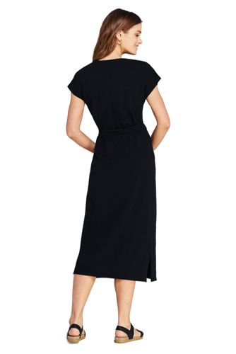Women's Cap Sleeve Midi T-shirt Dress