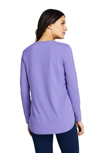Women's Moisture Wicking UPF 50 Sun Long Sleeve Curved Hem Tunic Top