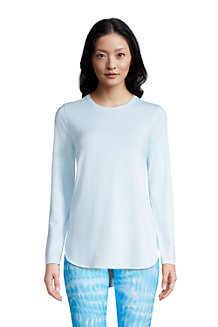 Women's Performance Long Sleeve Dipped Hem Tunic Top