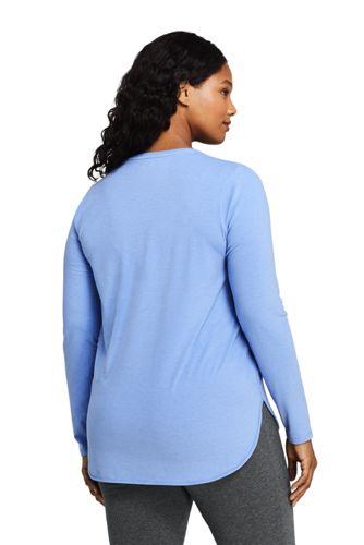 Women's Plus Size Moisture Wicking UPF 50 Sun Long Sleeve Curved Hem Tunic Top