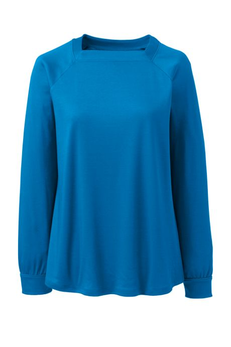 Women's Supima Micro Modal Long Sleeve Square Neck Top