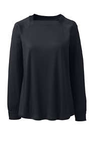 Women's Plus Size Supima Micro Modal Long Sleeve Square Neck Top