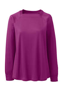 Women's Supima Micro Modal Long Sleeve Square Neck Top, Front