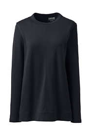 Women's Plus Size Cotton Polyester Long Sleeve Open Crew Neck Tunic