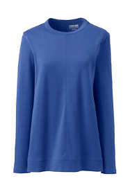 Women's Cotton Polyester Long Sleeve Open Crew Neck Tunic